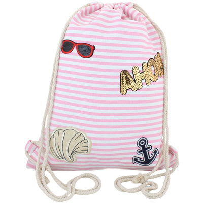 "Patch Turnbeutel ""Ahoi!"" Tasche Bag Backpack - Luxurelle-Shop"