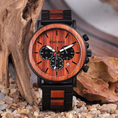 Bobo Bird Chronograph Military Armbanduhr in 2 Varianten - Luxurelle-Shop