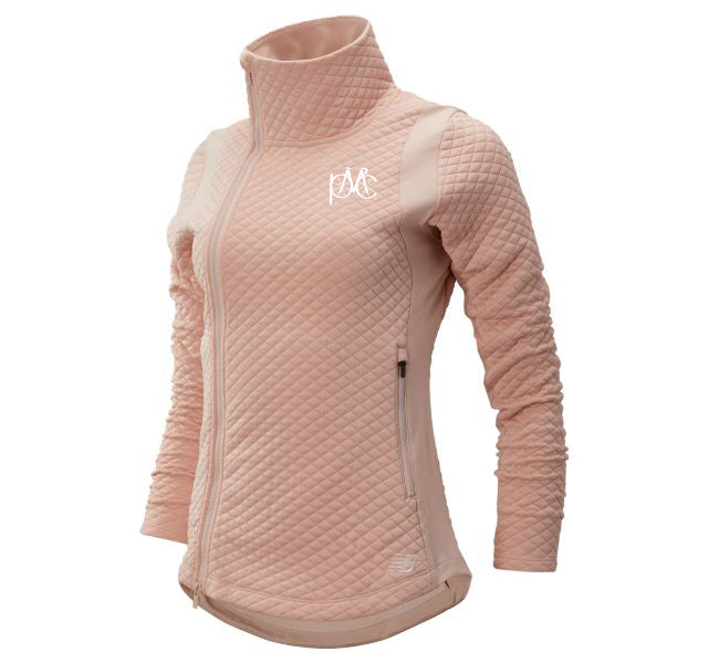 Women's New Balance Full Zip Jacket, Blush