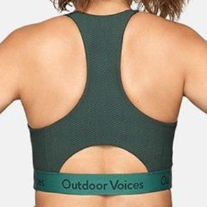 Women's Outdoor Voices Doing Things Sports Bra • Evergreen
