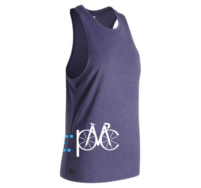 Women's New Balance Relentless Tank - Midnight Heather