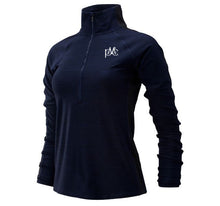 Load image into Gallery viewer, Women's New Balance Half Zip Pullover - Navy