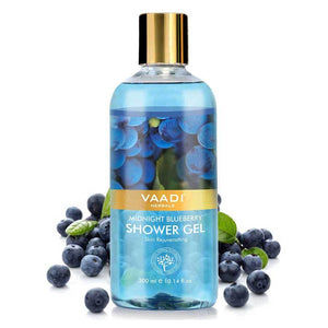 Midnight Organic Blueberry Shower Gel - Skin Tightening Therapy - Prevents Pre-Mature Ageing (300 ml / 10.2 fl oz)
