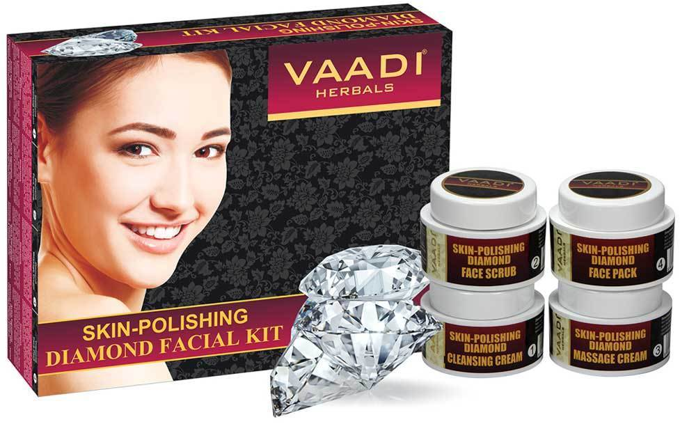 Skin Polishing Organic Diamond Facial Kit - Removes Dead Skin - Makes Skin Luminous (70 gms/ 2.5 oz)
