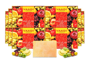 Organic Fruit Splash Soap with Orange, Peach, Lemon & Green Apple - Multivitamin Rich - Keeps Skin Nourished (12 x 75 gms / 2.7 oz)