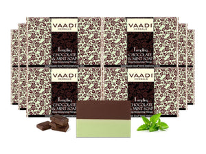 Tempting Organic Chocolate & Mint Soap - Deep Moisturising - Releives Irritated Skin (12 x 75 gms / 2.7 oz)