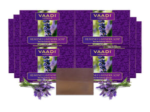 Heavenly Organic Lavender Soap with Rosemary - Revitalizes & Hydrates Skin (12 x 75 gms / 2.7 oz)