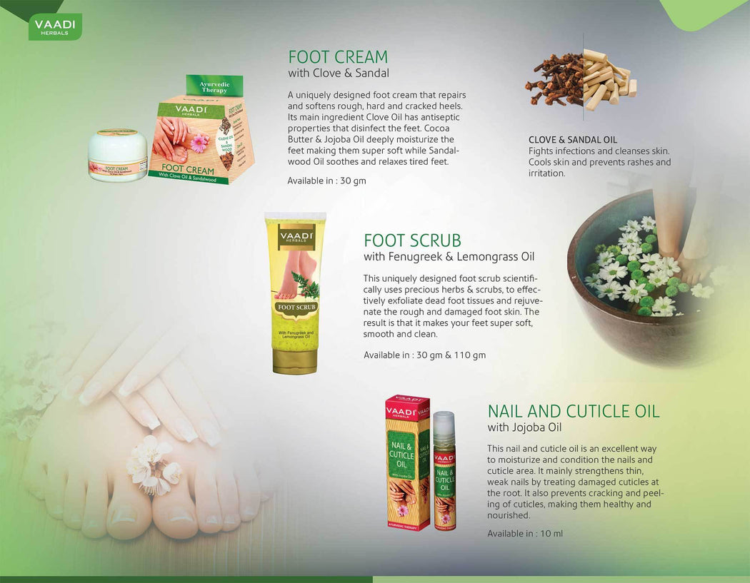 Organic Foot Scrub with Fenugreek & Lemongrass Oil - Therapeutic Exfoliates - Rejuvenates Damaged Skin - Softens Skin (110 gms / 4 oz)