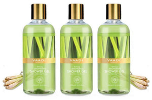 Enticing Organic Lemongrass Shower Gel - Deep Nourishing - Anti Bacterial - Makes Skin Healthy (3 x 300 ml / 10.2 fl oz)
