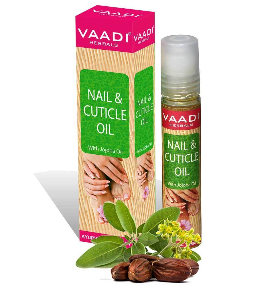 Organic Nail & Cuticle Oil with Jojoba Oil - Heals Redness & Pain - Strengthens Thin & Brittle Nails (10 ml/ 0.4 fl oz)