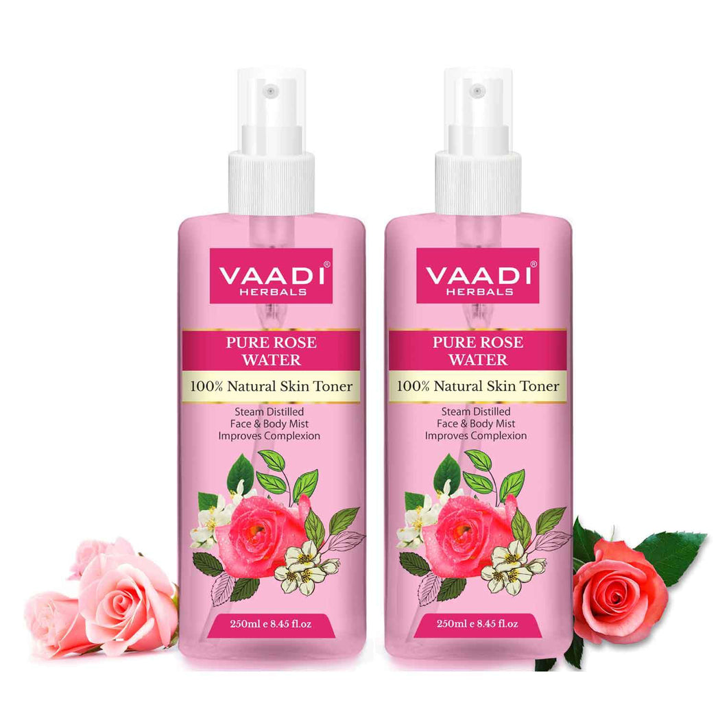 Rose Water - 100% Natural & Pure ( 2 x 250 ml / 8.5 fl oz )