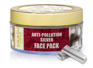 Anti Pollution Organic Silver Face Pack with Pure Silver Dust- Purifies and Moisturises Skin (70 gms/2.5 oz)