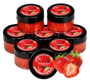 Nourishing Organic Strawberry and Honey Lip Balm (8 x 10 gms/0.4 oz)