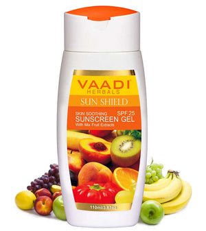 Sunscreen Gel With Mix Fruit Extract SPF 25 (110 gms / 4 oz)