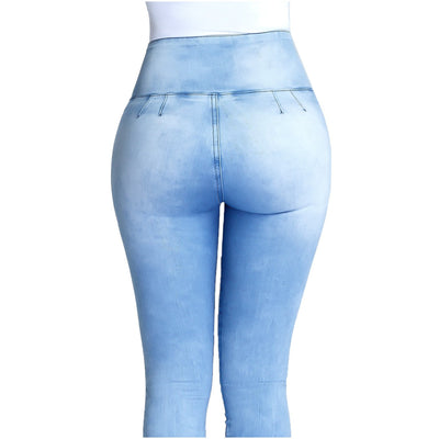 Lowla Tummy Control Skinny Jeans Capri with Girdle