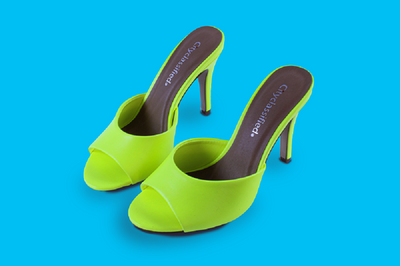 Bright Green Dress Sandals
