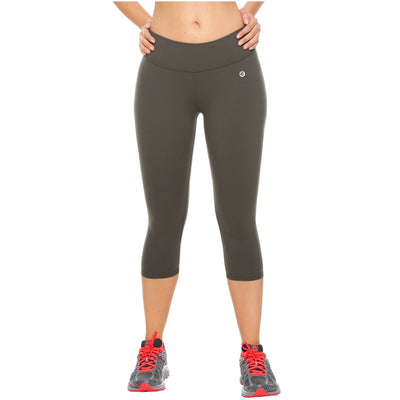 Flexmee Mid Rise Workout Slimming Sports Capri Pants