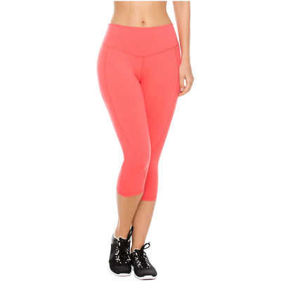 Flexmee Activewear Womens Mid Rise Workout Capri Leggings