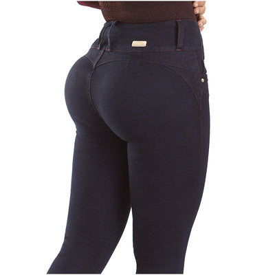 LT.Rose CS3003 Butt Lifting Skinny Jeans For Women | Colombian Made of 97% Cotton and 3% Spandex. Mid-rise style. Wide waistband. Skinny design for a slimmer look. Natural butt lifting effect. Without back pockets. Three buttons.