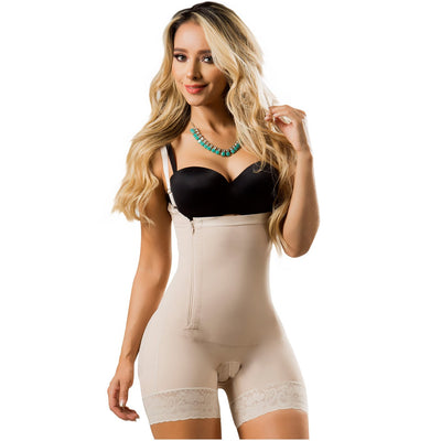 LT.ROSE Colombian Butt Lifter Body Shaper Mid Thigh Beige