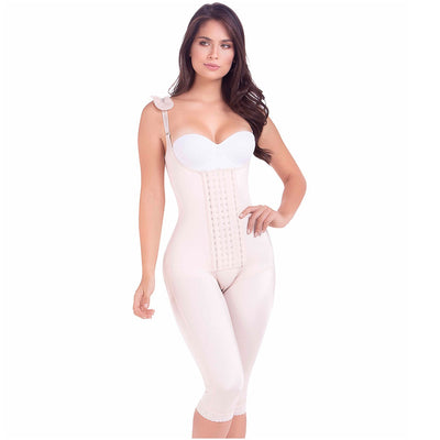 MariaE Fajas Postoperative Full Body Shaper with Strap Cushions