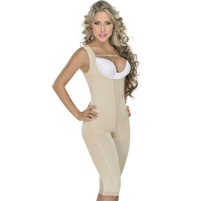 Fajas MYD Slimming Post Surgical Full Body Compression Girdle Beige