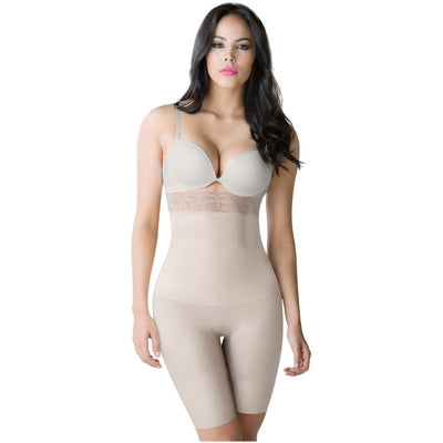Romanza High Waisted Butt Lifting Shaping Shorts Beige