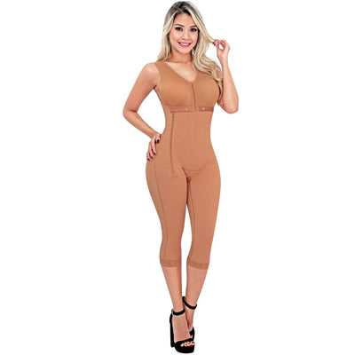 SONRYSE Shapewear Knee Length with Built-in bra & High Back
