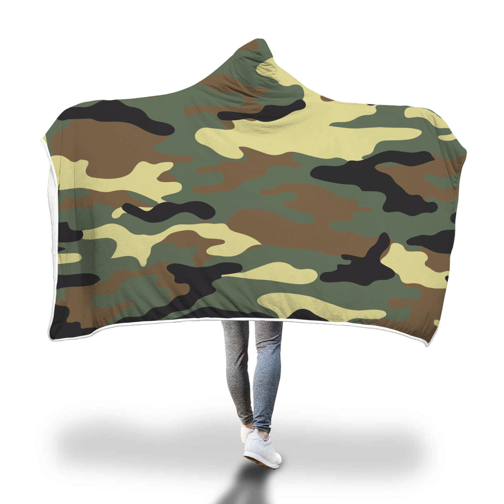 Bumperize Camo Hooded Blanket