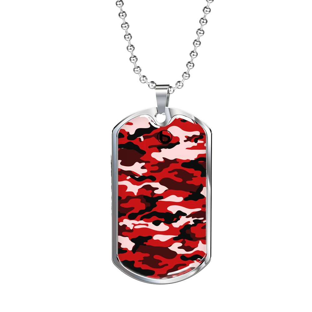 Bumperize Camo Red Dog Tag