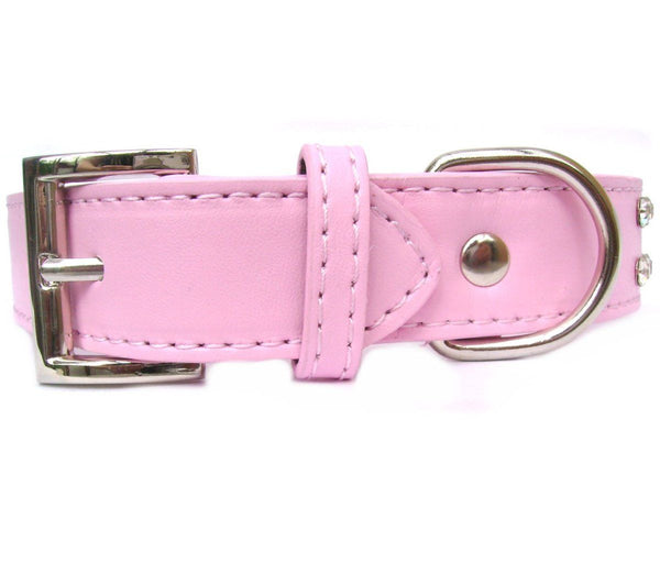 Baby Pink Rhinestone Crystal Dog Collar - Posh Pawz Fashion