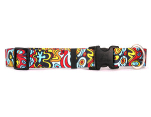 Funky Abstract Adjustable Designer Dog Collar - Posh Pawz Fashion