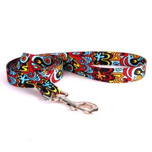 Funky Abstract Designer Fabric Dog Lead - Posh Pawz Fashion