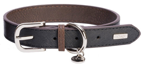 Accent Leather Dog Collar In Black - Posh Pawz Fashion