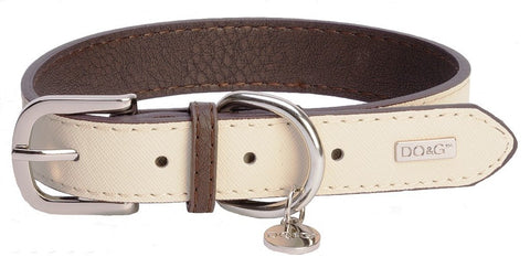 Accent Leather Dog Collar In White - Posh Pawz Fashion