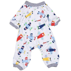Aeroplanes Onesie Dog Pyjamas XLarge - Posh Pawz Fashion