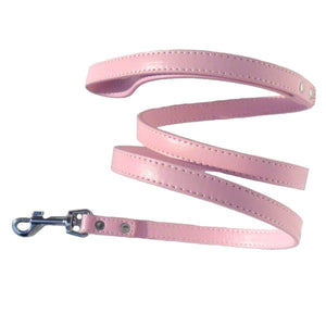 Classic Baby Pink Eco Leather Dog Lead - Posh Pawz Fashion