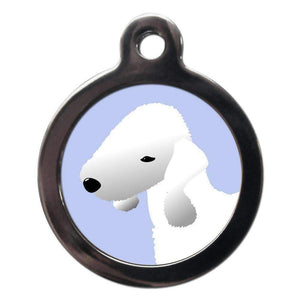 Bedlington Terrier Dog ID Tag - Posh Pawz Fashion