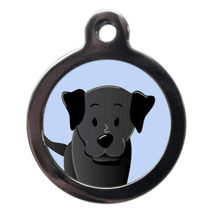 Black Labrador Dog ID Tag - Posh Pawz Fashion