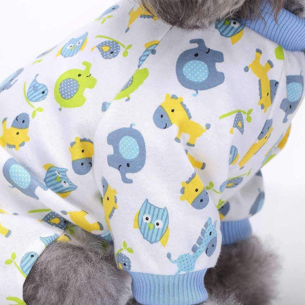 Blue Elephant Onesie Dog Pyjamas - Posh Pawz Fashion