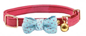 Funky Bow Luxury Cat Collar in Deep Pink - Posh Pawz Fashion