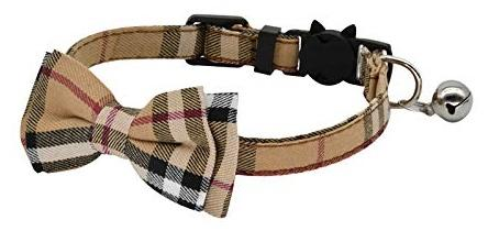 Classic Brown Tartan Plaid Cat Collar - Posh Pawz Fashion