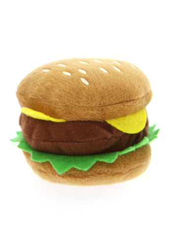 Big Burger Plush & Squeaky Dog Toy - Posh Pawz Fashion