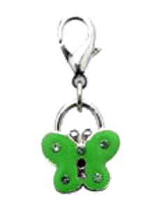Green Butterfly Collar Charm - Posh Pawz Fashion