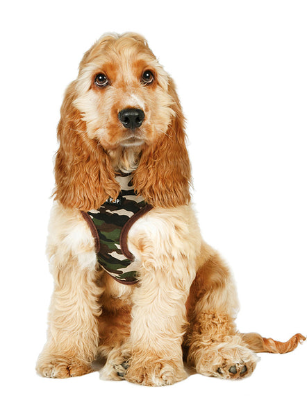 Camouflage Dog Harness2 - Posh Pawz Fashion
