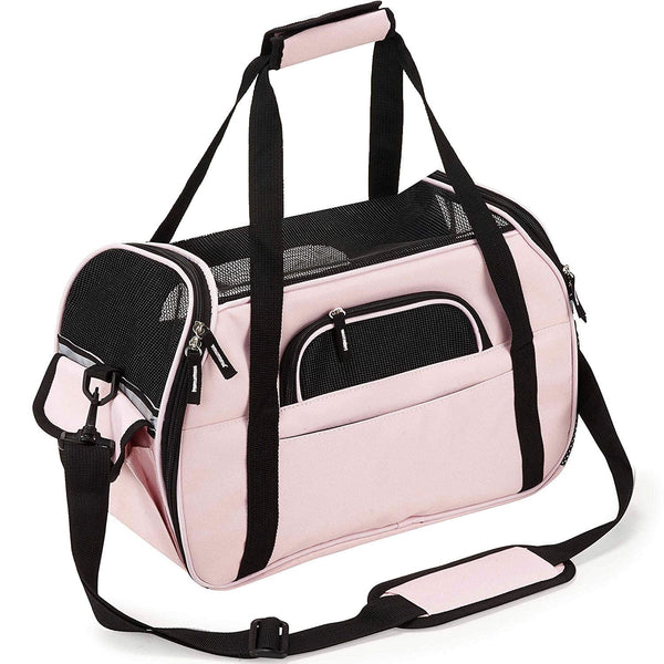 Carrie Pink Pet Carrier - Posh Pawz Fashion
