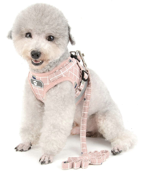 Blush Pink No Pull Vest Dog Harness And Lead Set - Posh Pawz Fashion