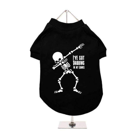 Halloween Dabbing In My Bones Dog T-Shirt - Posh Pawz Fashion