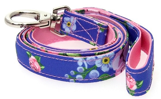 Floral Burst Fabric Dog Lead - Posh Pawz Fashion