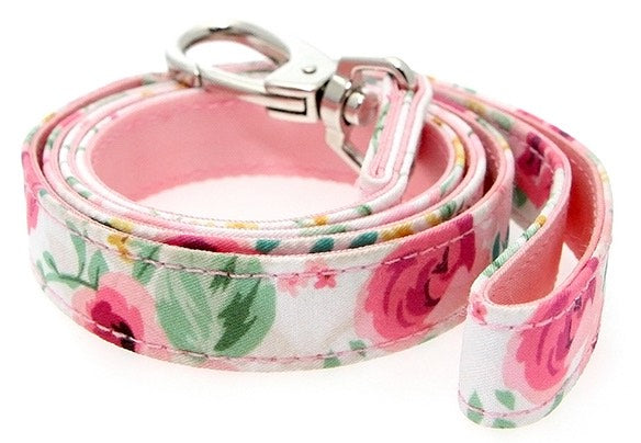 Floral Cascade Fabric Dog Lead - Posh Pawz Fashion